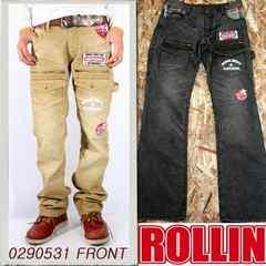 Rollin(ローリン)コーデュロイブッシュパンツ/ブラウンM