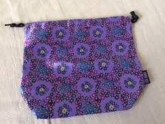 新品未使用アナスイANNA SUI巾着袋パープル紫色花柄