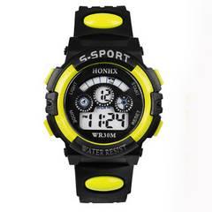 【送料無料】子供用デジタル腕時計★日常防水★LED7色+点滅/Y