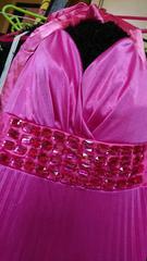 美品☆お姫様☆アゲハ☆大きいサイズ☆ピンク☆デカストーン☆ロングドレス