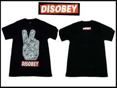disobey ステイトメント T−シャツ NS-49 【黒-L】