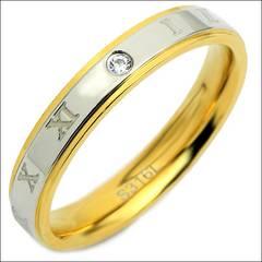 11号指輪プレミアムローマリングステンレスゴールド