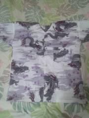 ☆新柄白×雲龍小桜和柄ダボシャツ120