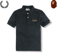エイプ ape 半袖ポロシャツ L 黒