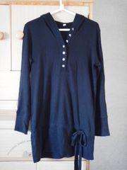 UNIQLO/ユニクロフード付 ロング丈Tシャツ カットソー/送料360円