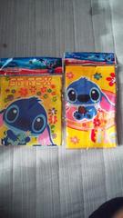 新品 スティッチ 巾着袋×ミニタオルセット