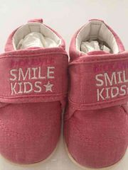 子供用靴ピンクのデニム風 型崩れなし!12cm軽くて歩きやすい!