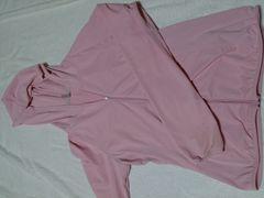 ユニクロ M 日焼け防止パーカーに ピンク