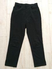 インディヴィ INDIVI  クロップド パンツ スーツ 黒