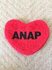 アナップ/ANAP 赤×黒 ハート型 ファー ポーチ 未使用品