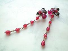 jewel*艶赤のイヤリング*