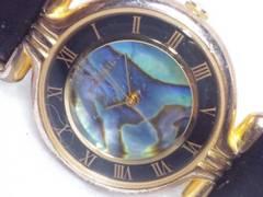 2016復活祭★FOSSILフォッシル☆素敵な虹色シェルダイヤルレディース腕時計