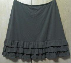 試着のみ★【DHC】ペチスカート:大きいサイズLL/オリーブ色