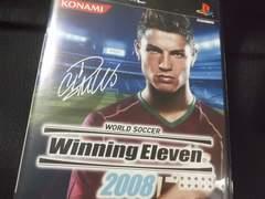 PS2『ウイニングイレブン2008ワールドサッカー』プレステソフト箱解説書有り/コナミ