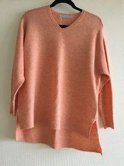 新品サーモンピンク色ニットフリーサイズゆったり送料込み