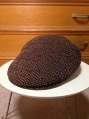 美品 cuccia クチャ ハンチングキャップ 帽子 茶色 日本製 S〜Mサイズ小さめ
