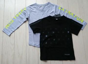 モバオク:アイロン 100★PATAGON★Tシャツ+ロンT★重ね着2枚セット★新品