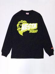 ネスタブランド☆長袖Tシャツ Lサイズ 黒 【新品】LS1007F