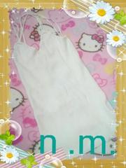 ◆...〔新品 背中編みあげホワイトットキャミ〕...◆