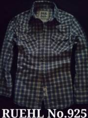 【RUEHL No.925】Vintage Destroyed チェックシャツ L/Blue