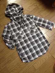美品COMME CA ISM 7分丈デザインシャツ コムサイズム