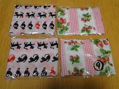 ★子供用マスク女の子用黒猫&苺4枚セット★�H