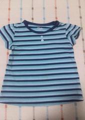 ブルーボーダーTシャツ♪120�p
