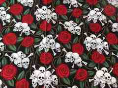 アレクサンダーヘンリー・薔薇とドクロ  110×57