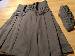 ★アクシーズaxes★超美品グレー膝寸スカート