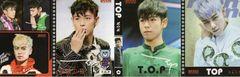 DM便送料無料♪TOP(BIGBANG)ビッグバン4連メモ帳(小)韓国製A/グッズ