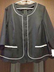 新品6L★フォーマルジャケット★大きいサイズ/リボンポケ/裾カワ
