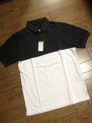 新品RAGEBLUE バイカラーポロシャツ 白×灰 レイジブルー