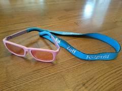 キッザニア Zoff眼鏡♪UV紫外線カットサングラス♪子供用ピンクメガネ♪