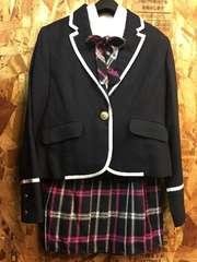 新品☆女の子160制服風スーツセット卒業入学にもピンク♪r713