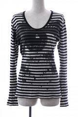 FUGA 長袖Tシャツ 46 白黒ボーター