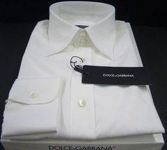 未使用ドルガバドレスシャツ42 ホワイト