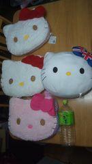 8@キティ@キティちゃん大判フェイスクッション等7個セットサンリオハローキティHello Kitty