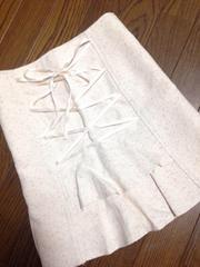 LDprime★バックフリルリボン ツイードスカート