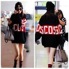 ★新品★大きいサイズ★F★GCDSロゴ入り長袖ロングセーター