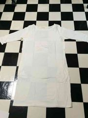 ◆新品未使用◆PJ/ピーチジョンチュニックワンピ(WHITE/白)