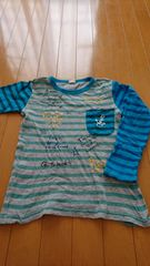 ボーダー★ロングTシャツ*130