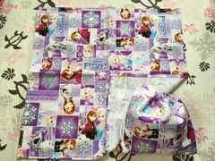 ハンドメイド/アナと雪の女王(紫)/給食袋&ランチクロス