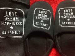 LOVE DREAM HAPPINESS EX FAMILY スリッパ EXILE E-girls