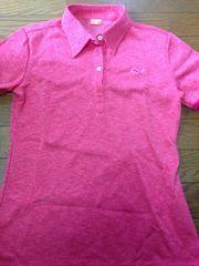 プーマゴルフピンク鹿の子ポロシャツ