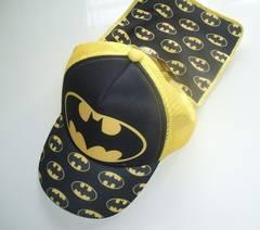 新品タグ付 バットマンキャップ子供用帽子 首日よけ付き50cm