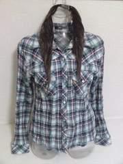 ○チェックシャツ/L