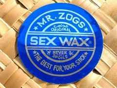 非売品★SEX WAXセックスワックスミラーステッカー/サーフィンサーフボードサーファー波乗り