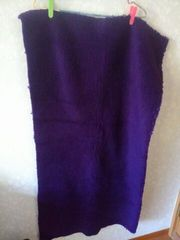 大判はぎれ♪綺麗な紫色ボア生地♪バッグやぬいぐるみハンドメイドに。