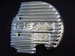 (611)GS400GS400LGS400E用メッキスプロケカバーフィンS1
