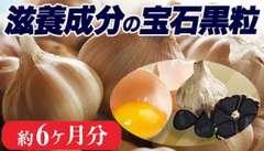大容量6か月分!発酵黒にんにく+卵黄の導き 360粒